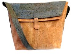 CorkVille - Natural and Blue cork bag, £79.00 (http://www.corkville.co.uk/natural-and-blue-cork-bag/)