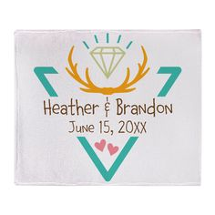 Hipster Wedding or Engagement Gift Throw Blanket on CafePress.com
