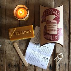 Butterbean Studios: Beeswax Candle Making Craft Kit #Handmade