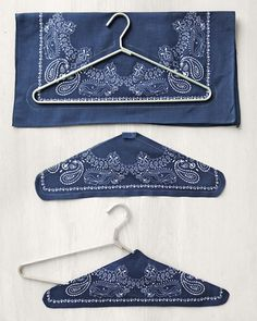 Bandanna Hangers - Martha Stewart Sewing Projects