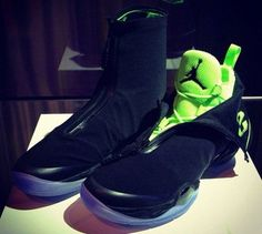 The just-launched Air Jordan XX8 in its neon and black glory (via @solecollector).