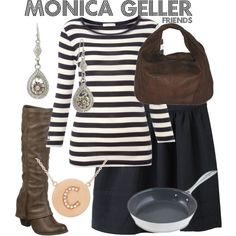 Inspired by Friends character Monica Geller played by Courteney Cox from 1994-2004.