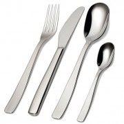 Alessi KnifeForkSpoon Cutlery - 24 Piece Set by Jasper Morrison Everyday Cutlery, Classic Cutlery, Alessi, Jasper, Tableware, Dinnerware, Tablewares, Dishes, Place Settings