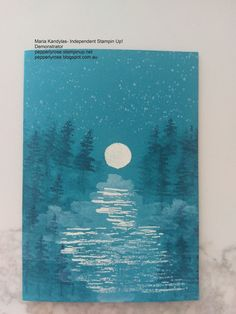 SEE VIDEO ON YOUTUBE Hi everyone! Today I am sharing a night scene card made with Stampin Up!'s Waterfront and High Tide stamp sets. The Waterfront stamp set...YOUTUBE