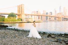 Bridal inspiration under Brooklyn Bridge East River, Tower Bridge, Brooklyn Bridge, Magnolia, Skyscraper, Our Wedding, Bridal, Landscape, World