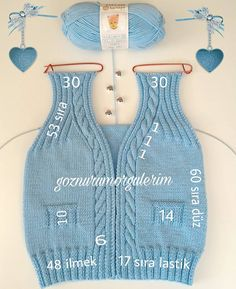 Knitting Boy's Vest Development Knitwear for many years has lengthy been trendy. Knitwear is kind of various. Baby Knitting Patterns, Sewing Stitches, Crochet Stitches Patterns, Knitting For Kids, Crochet For Kids, Baby Patterns, Crochet Baby, Knit Crochet, Baby Cardigan
