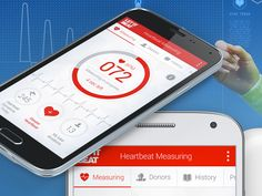 Heartbeat Measuring Android application design for Samsung & Srce with cooperation with NTH Group Croatia.  Full project preview: http://on.be.net/1B9hjOB  Leave some feedback. Thanks!