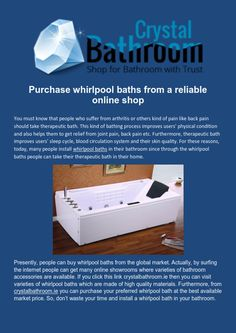 Hit the link crystalbathroom.ie to  purchase your preferred #WhirlpoolBath at the best available price.