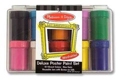 Melissa-&-doug Melissa & Doug Deluxe Poster Paint Set - 10 Bottles | Buy Online in South Africa | TAKEALOT.com
