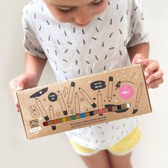 shop independent for kids and adults this Christmas - round up by 91 Magazine editor Caroline Rowland Personalised Box, Personalized Gifts, Make Your Own Superhero, Goodbye To All That, Watercolor Pencils, Watercolour, Activity Box, Rainbow Colors, Bright Colours