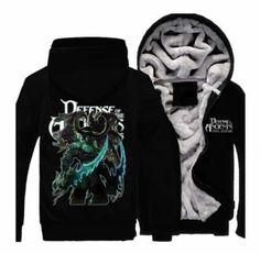 DOTA hero thick fleece zip up hoodies for men Shadow Fiend printed Hoodie Sweatshirts, Zip Up Hoodies, Fleece Hoodie, Best Hoodies For Men, Cool Hoodies, Dota 2, Winter Wear For Men, Plus Size Casual, Black Zip Ups