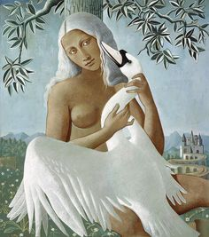 Don't know Gabrielle Bakker. Her Leda and the Swan from gouache on paper. Beautiful colouring and stylization. Gotta look into her work. Caricatures, Famous Art Pieces, Acts Of Love, Animal Totems, Art Institute Of Chicago, Aboriginal Art, Figure Painting, Animals For Kids, Beautiful Creatures