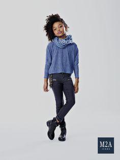 M2A Jeans   Fall Winter 2015   Kids Collection   Outono Inverno 2015   Coleção Infantil   calça jeans infantil feminina; look infantil; denim kids.
