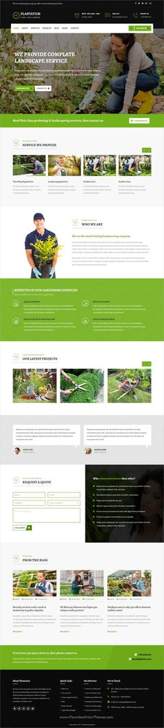 Plantation is clean and modern design 3in1 responsive #bootstrap template for #gardening, landscaping and lawn services website download now..