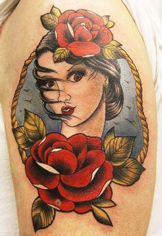 Tattoo Artist - Erich Rabel - Woman tattoo
