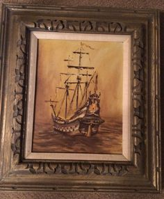 Vintage Oil on Canvas painting signed by the artist  by USANOW