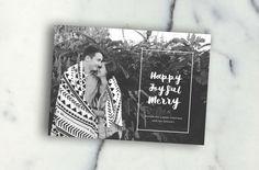 Happy Joyful merry  -  5x7 Digital Photo Christmas Card christmas card design / holiday / christmas / black and white / modern christmas door AjcPaperie op Etsy https://www.etsy.com/nl/listing/252281718/happy-joyful-merry-5x7-digital-photo