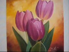 COMO PINTAR TULIPAS - HOW TO PAINT TULIP - YouTube