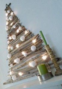 Árbol de Navidad con ramitas