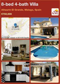 8-bed 4-bath Villa in Alhaurin El Grande, Malaga, Spain ►€750,000 #PropertyForSaleInSpain