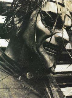 Slipknot Jim Root with zipper mouth mask 8 x 11 b/w pin-up photo Nu Metal, Heavy Metal, Chris Fehn, Paul Gray, Iowa, Root Image, Slipknot Band, Slipknot Corey Taylor, Mick Thomson