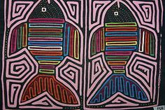 Kuna Traditional Mola Applique Art Fish Mirror Image Hand Stitched Panel 75B. If you cannot find this listing, please contact us at cheetahdmr@aol.com