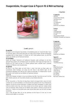Popcorn Kit, Knusperstücke, Zimtberge, Knuspernüsse und andere kulinarische Weihnachtsgeschenke | Das Knusperstübchen