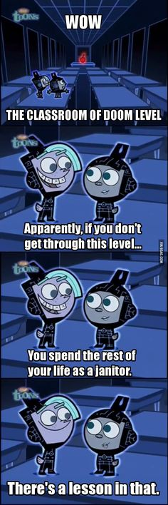 Fairly OddParents on the value of school