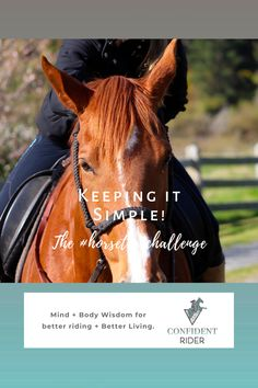 It's not uncommon to find yourself in the place where everything feels like it's getting on top of you.  >> Confident Rider - mindset, movement and nervous system awareness for equestrians