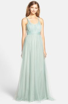 Jenny Yoo 'Annabelle' Convertible Tulle Column Dress (Regular & Plus Size) available at - The convertible Idea is cool. Not sure if you're cool with the tulle though? Mismatched Bridesmaid Dresses, Bridesmaid Outfit, Wedding Dresses, Bridesmaids, Lace Wedding, Formal Dresses For Women, Trendy Dresses, Women's Dresses, Annabelle Dress