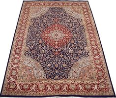Kashan rugs are most famous of Persian carpet design for their expansive floral patterns and all-over Shah Abbas field. Kashan in its actuality is a city in central Iran, with a long history of carpet making dating back to 16th century.  http://www.alrug.com/4329