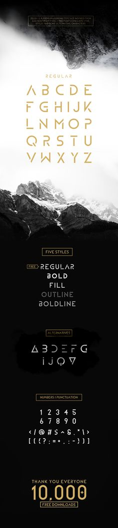ZELDA IS AN MODERN AND MINIMAL TYPEFACE INSPIRED FROM SANS SERIF FONT…