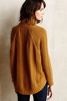 Harvest Moon Poncho - anthropologie.com; they call it a poncho, but the back is a deep raglan