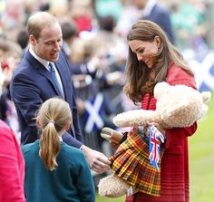 Pin for Later: The Evolution of Will and Kate's Royal Love  Prince William and Kate accepted gifts during a 2014 visit to Scotland.
