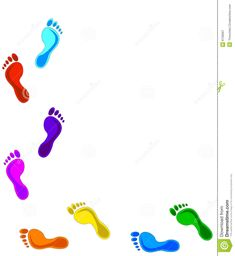 Illustration about Multi Colored footprints on white background. Paraffin Bath, Geometric Arrow Tattoo, Bible Crafts, Image Photography, Footprint, Pedicure, Body Art, Pattern Design, Design Inspiration