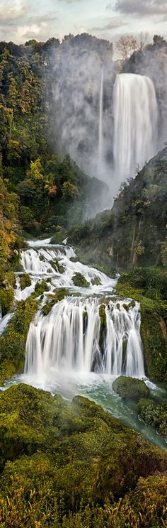 Cascata delle Marmore - Man made Waterfalls created by the ancient Romans.- Terni, Umbria Tuscany | Italy