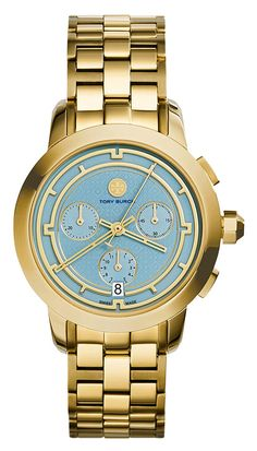 Tory Burch Watches 37mm Tory Chronograph Golden Bracelet Watch - on #sale 46% off @ #NeimanMarcus  #ToryBurch