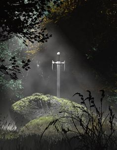 Excalibur. Whoever pulls the sword from the stone shall be the king.