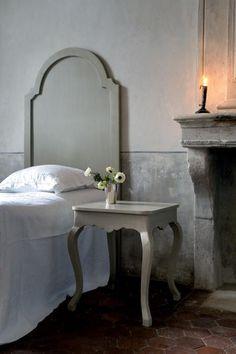 Fireplace via Remodelista...love that headboard