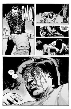 walking dead negan kills glenn - bitte nur im Comic! Walking Dead Comic Book, Walking Dead Comics, Walking Dead Season, Fear The Walking Dead, Negan Kills Glenn, Comic Book Covers, Comic Books, Twd Comics, Comics