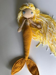 Channel Islands Mermaid  Happy  Crochet Mermaid Amigurumi