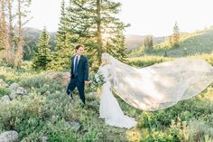 Mountain Bridal Formal Session | Tony's Grove | Utah Mountains | BreAnne Weston Photography | Cathedral Veil