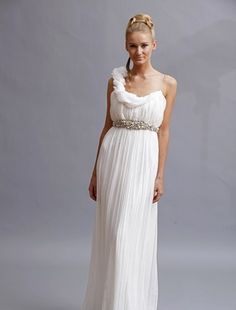 Love the Greecian style... Maybe not for a wedding dress, but I still like it