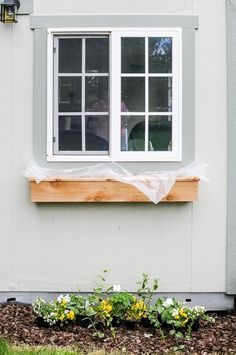 How to build and install simple DIY cedar window boxes in a few hours. A cedar window planter box is the prefect way to spruce up the front of your home! Windows, Diy Window, Diy Planters, Fixer Upper, Diy Planter Box, Cedar Window Boxes, Diy Flower Boxes, House Exterior, Window Design