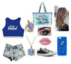 """""""Turtle girl"""" by loveyourselfalways on Polyvore featuring Kate Spade, Guy Harvey, Converse and Lime Crime"""