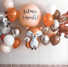 Boy First Birthday, 1st Birthday Parties, Happy Birthday, Forest Party, Woodland Party, Balloon Decorations Party, Family Set, Forest Friends, Candy Shop