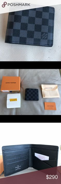 Louis Vuitton wallet Authentic Louis Vuitton wallet black damier Bi-Fold wallet usually at $490 Louis Vuitton Bags Wallets