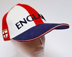 ad221a77868 Saint George Cross England Flag Hat UK British Soccer Sports Embroidered Cap   Unbranded St George s