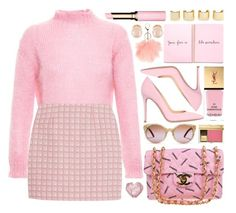 """""""Untitled #3531"""" by monmondefou ❤ liked on Polyvore featuring мода, Filles à papa, Chanel, Alexander Lewis, Yves Saint Laurent, Clarins, Gianvito Rossi, Kenneth Jay Lane, Luv Aj и Tory Burch"""