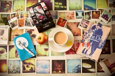coffe, pictures and books, perfect combination